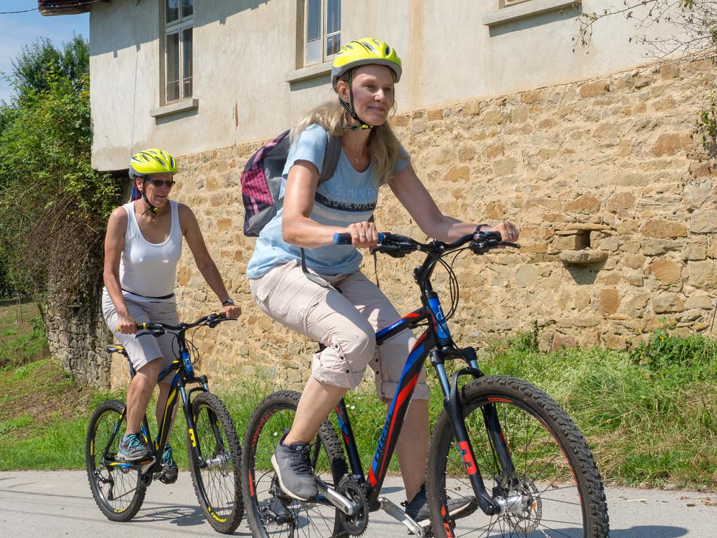 Mountainbikes für die Radtour über die Dörfer (Tag 13)