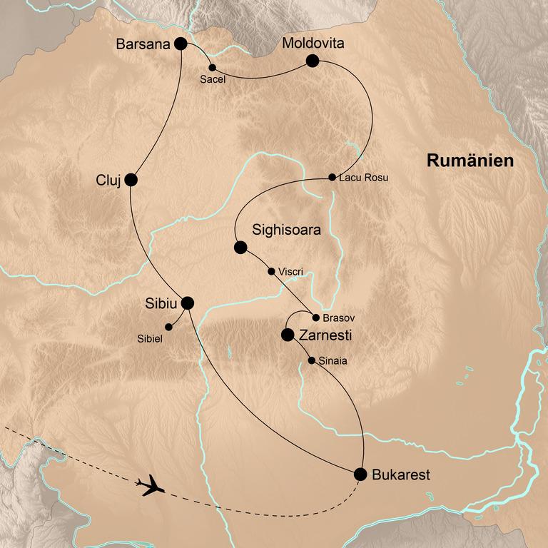 Rumänien – Karpaten, Transsilvanien und Walachei