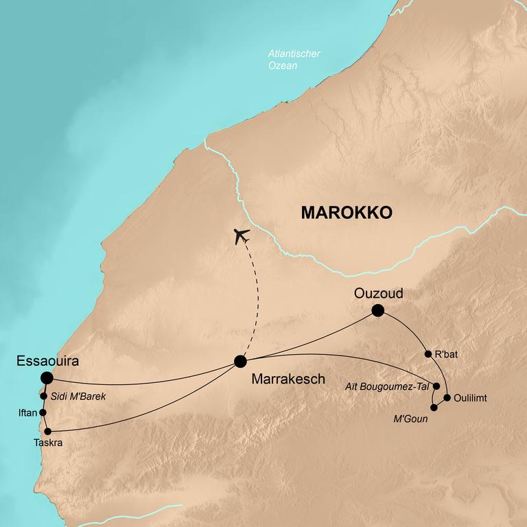 Marokko – Gipfelsturm und wilde Küsten