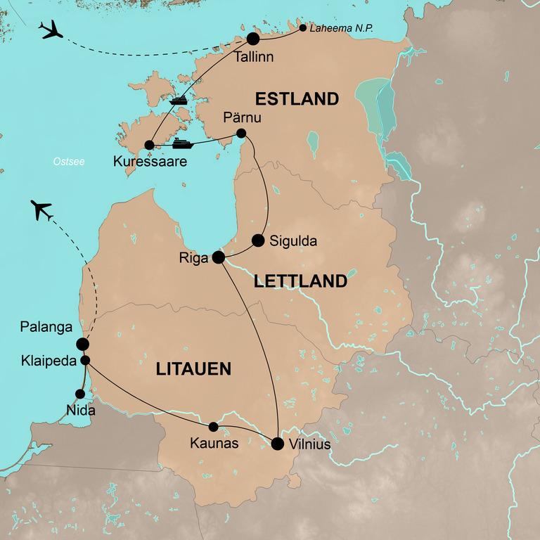 Estland-Lettland-Litauen – Action und Spaß am baltischen Meer