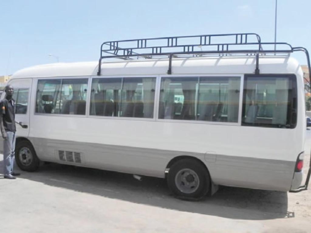 Einer unserer Kleinbusse im Senegal und in Gambia