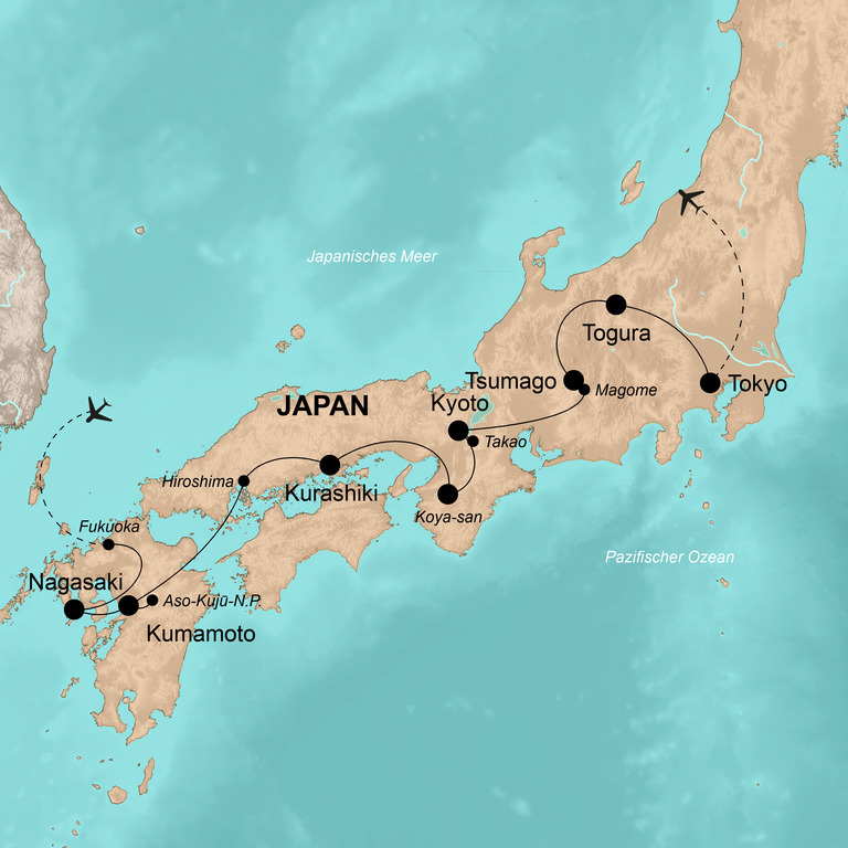Japan – Zwischen Wolkenkratzern und traditionellen Tempeln