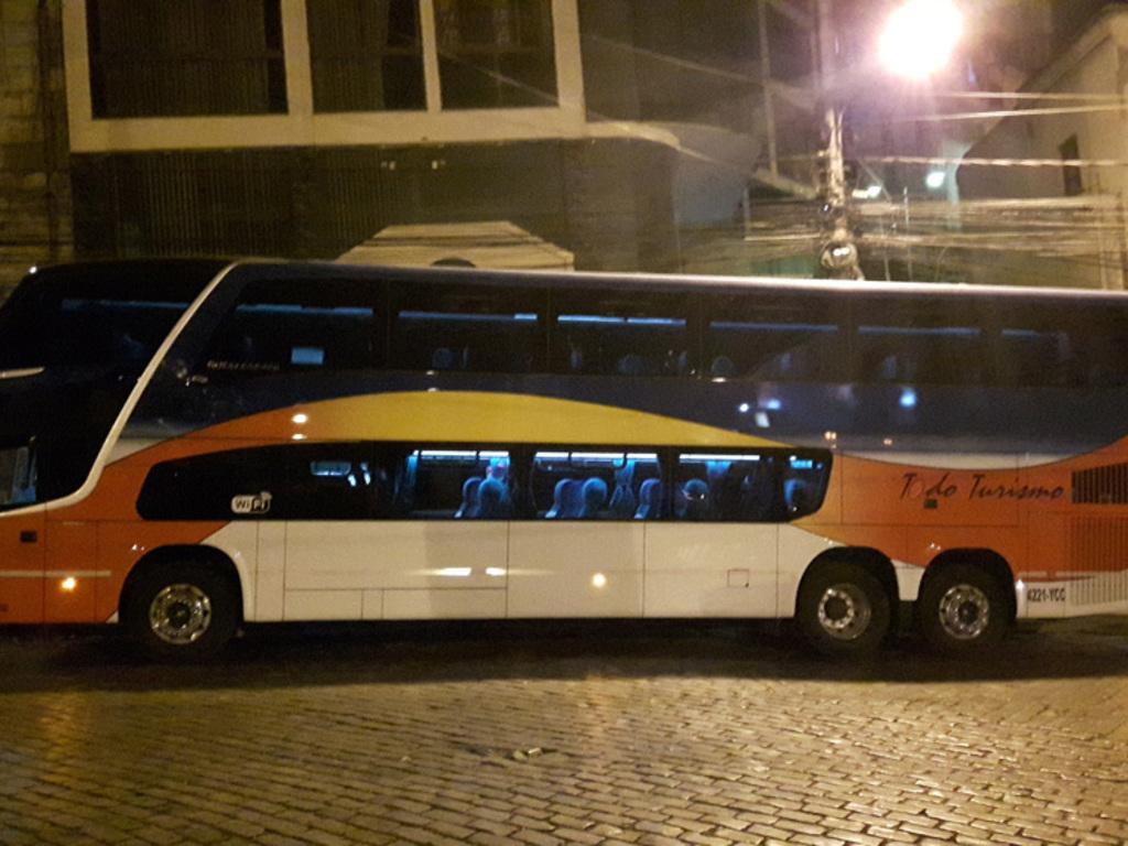 Nachtbus (Fahrt von Salar de Uyuni nach La Paz)  in