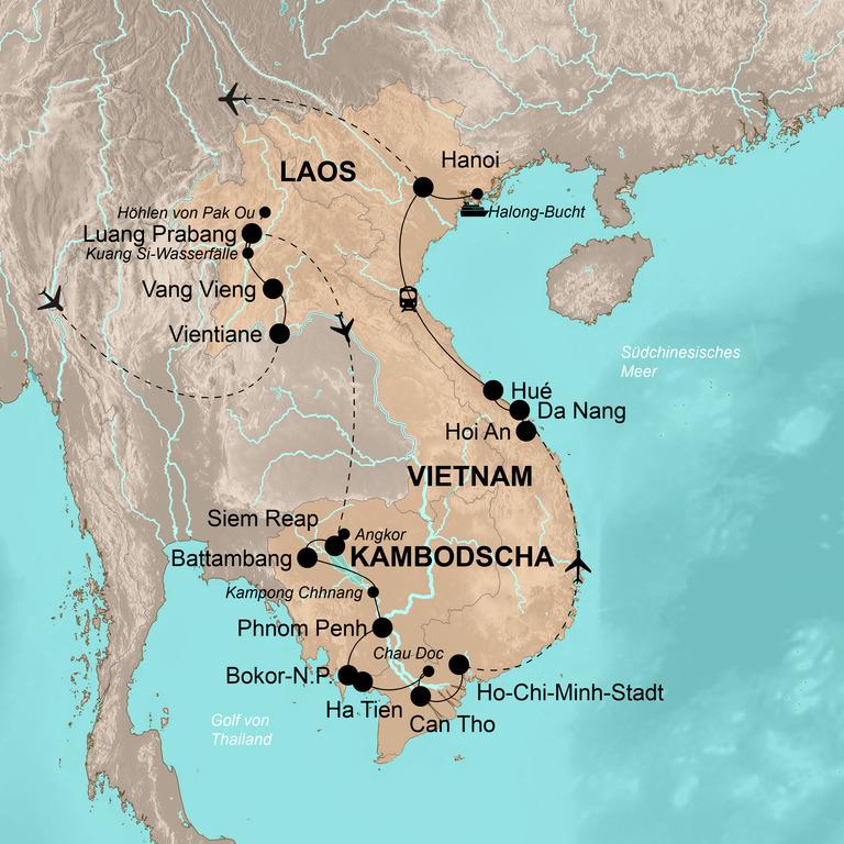 Laos, Kambodscha und Vietnam – Die große Indochina-Reise