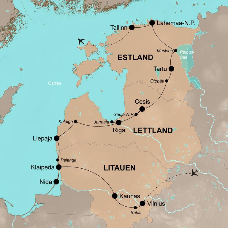 Litauen, Lettland und Estland mit dem Fahrrad – Mit dem Fahrrad durch das Baltikum