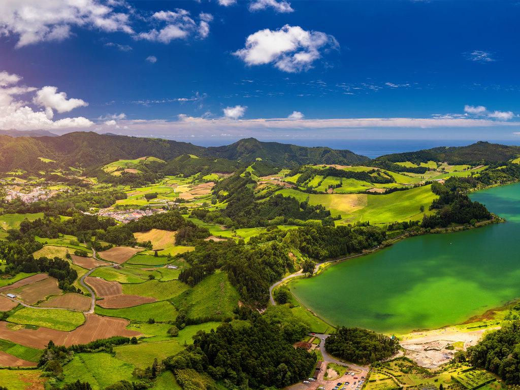 São Miguel: Stadtrundgang Ponta Delgada, Welcome Lunch, Wanderung Lagoa das Furnas