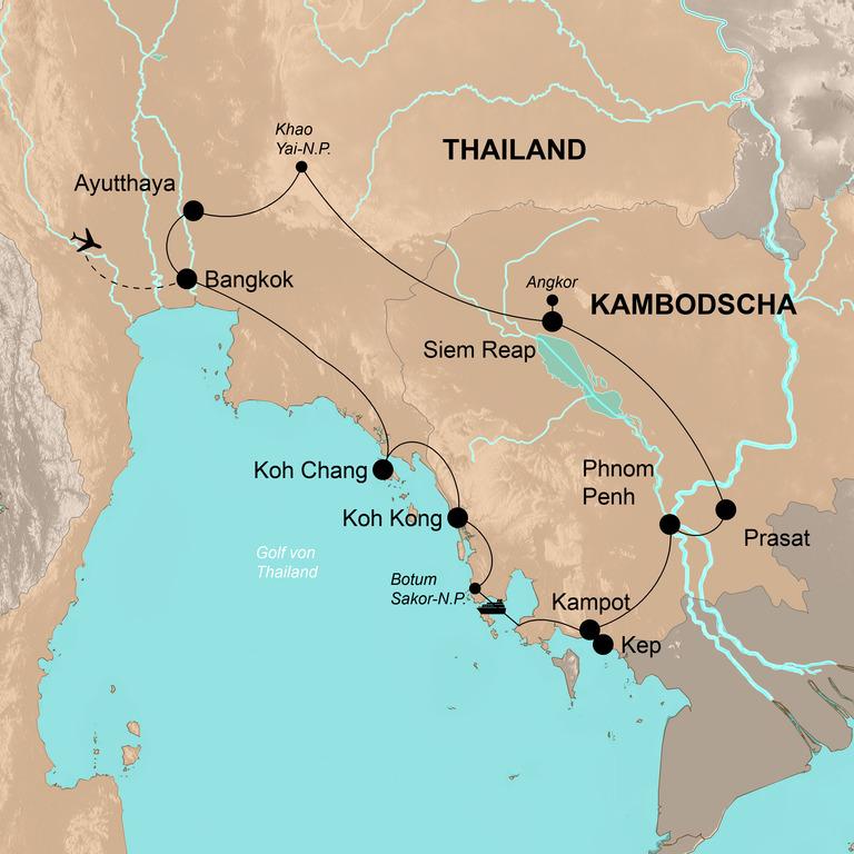 Thailand und Kambodscha – Dschungel, Tempel, Badefreuden
