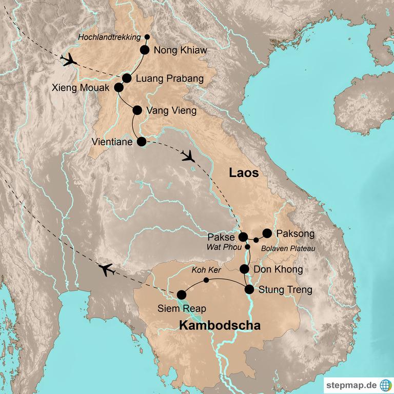 Laos und Kambodscha – Outdoor-Erlebnis Indochina