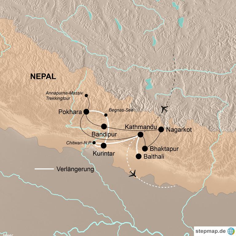 Nepal mit Verlängerung Chitwan-Nationalpark und Balthali – Zu Fuß zu den Göttern