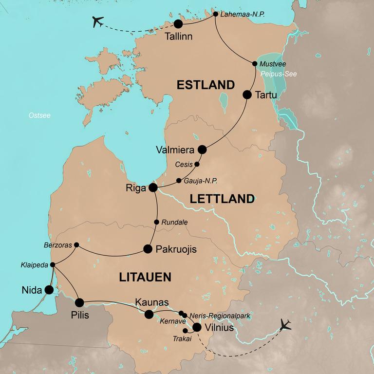 Litauen, Lettland und Estland – Das Baltikum mit allen Sinnen