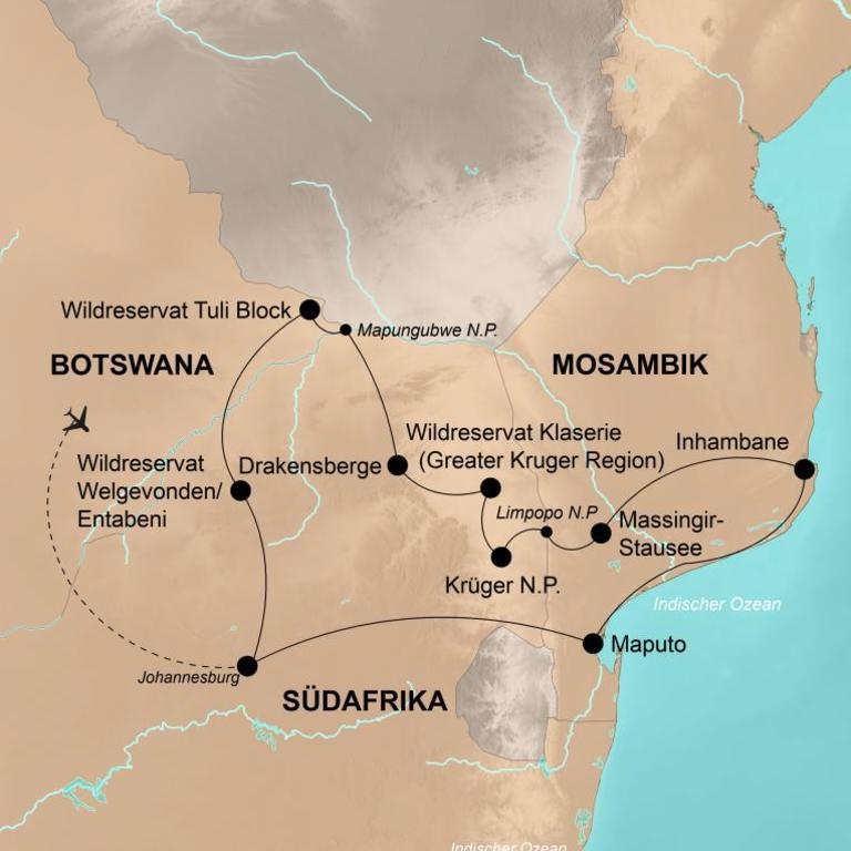 Südafrika, Botswana und Mosambik – Afrikas Wildnis