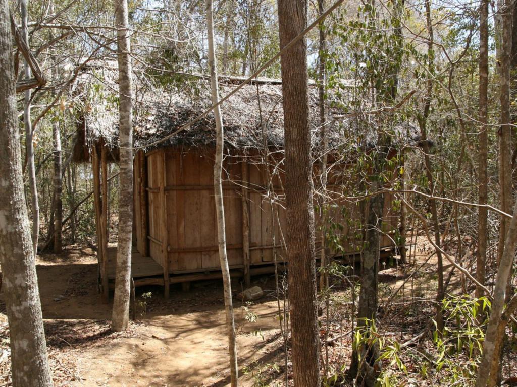 einfache Hütten im Kirindy Reservat  Reservat