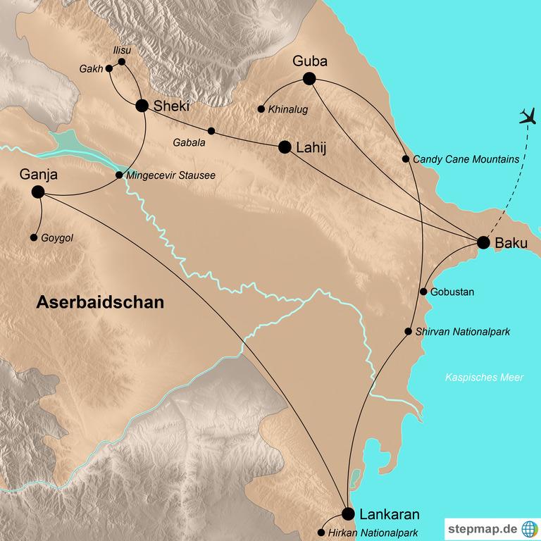 Aserbaidschan – Zwischen Kaukasus und Kaspischem Meer