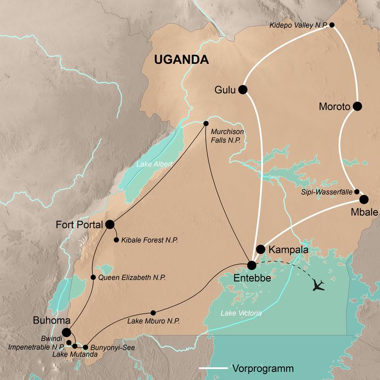 Uganda – Abenteuer Berggorillas