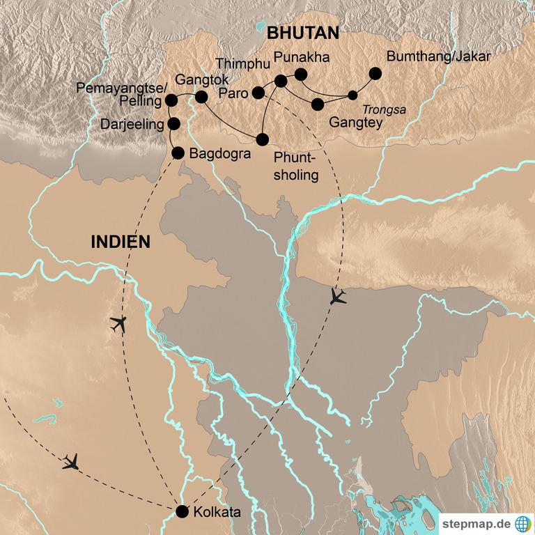 Bhutan und Indien (mit Darjeeling und Sikkim)  – Im Banne des Drachen