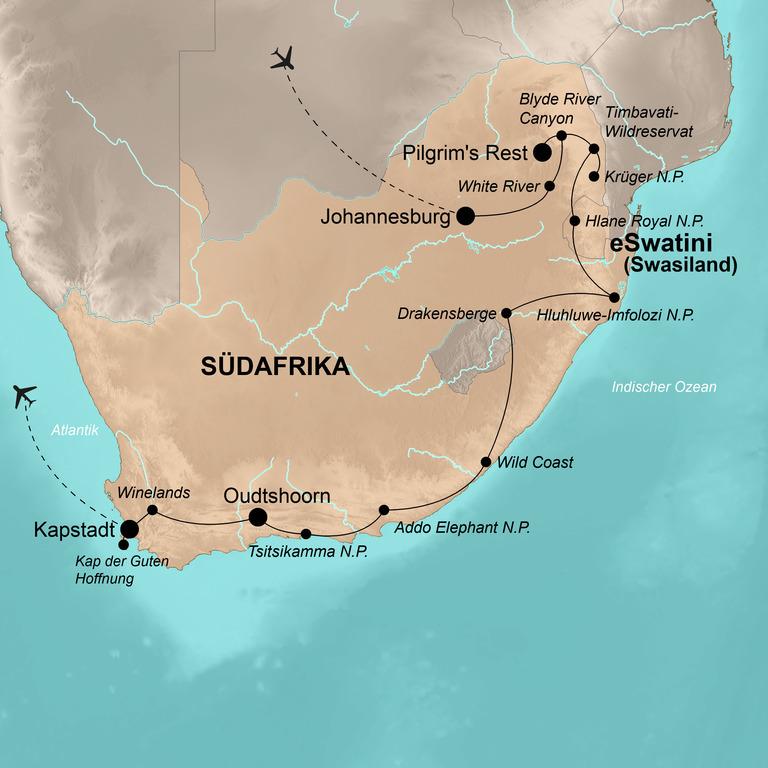 Südafrika mit eSwatini (Swasiland) – Die umfassende Reise