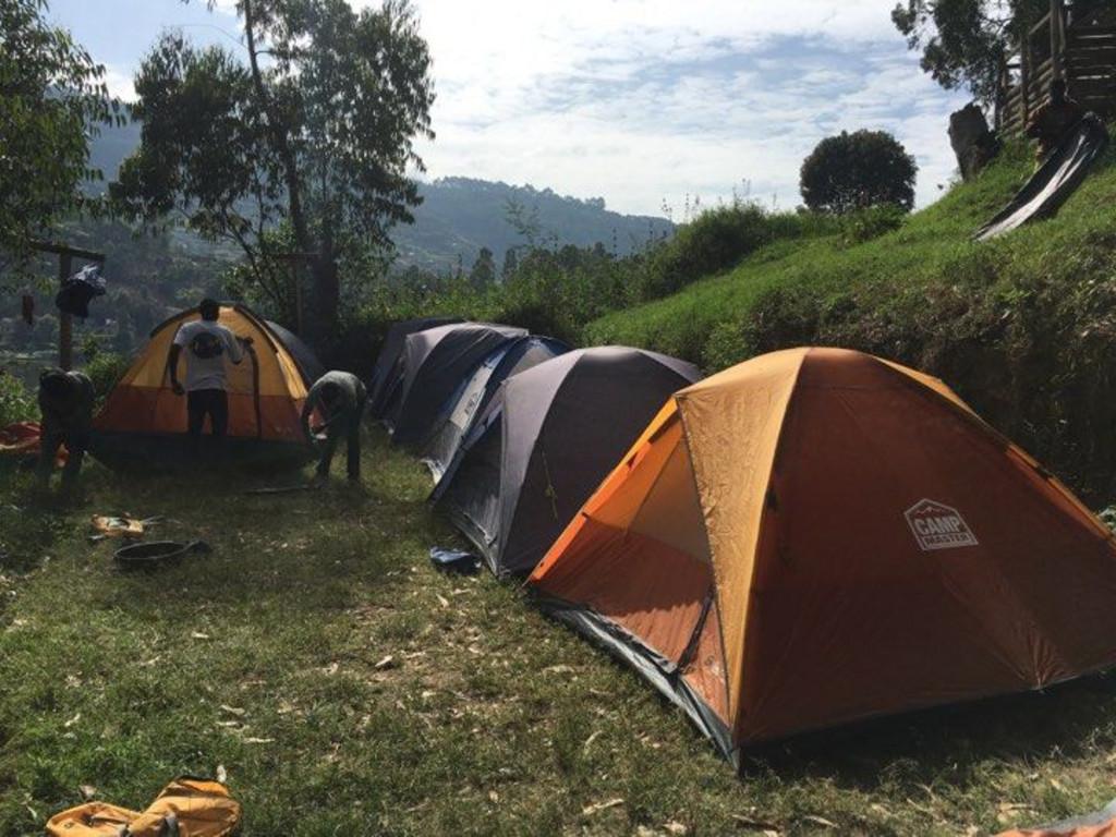Camping auf einer Insel im Bunyonyi-See