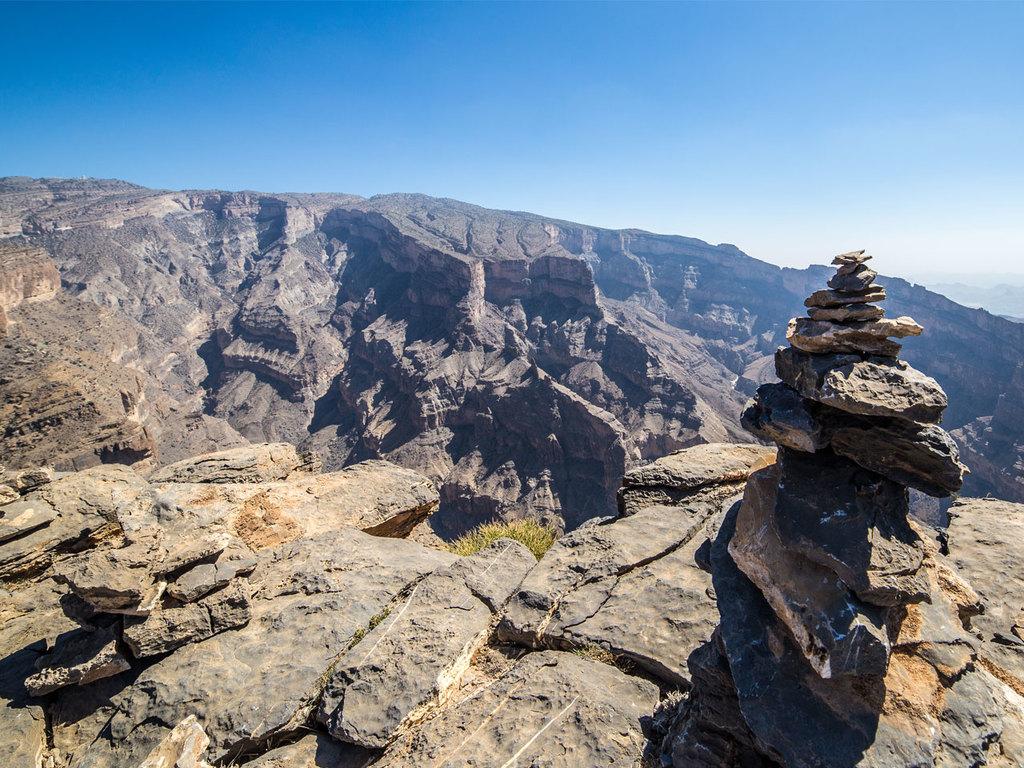 Nizwa – Misfah – Jebel Shams – Nizwa: Nizwa Souk, Besuch von Misfah, Besuch des Bait Al Safa,  Fahrt zum Jebel Shams mit Halt im Wadi Ghul