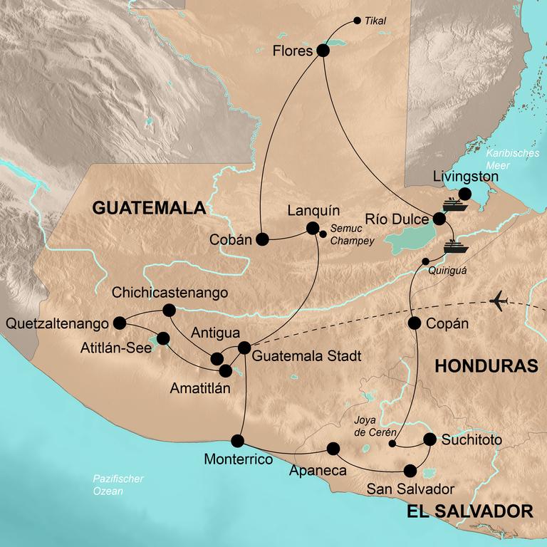 Guatemala mit El Salvador und Copán – Märchenhafte Erlebnisse im Land der Mayas und Quetzales