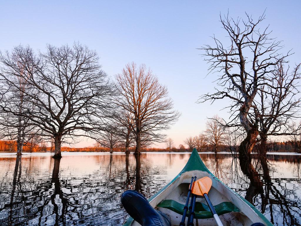 Pärnu – Soomaa-Nationalpark – Tartu: Kanufahrt im Soomaa-Nationalpark, Stadtspaziergang in Viljandi