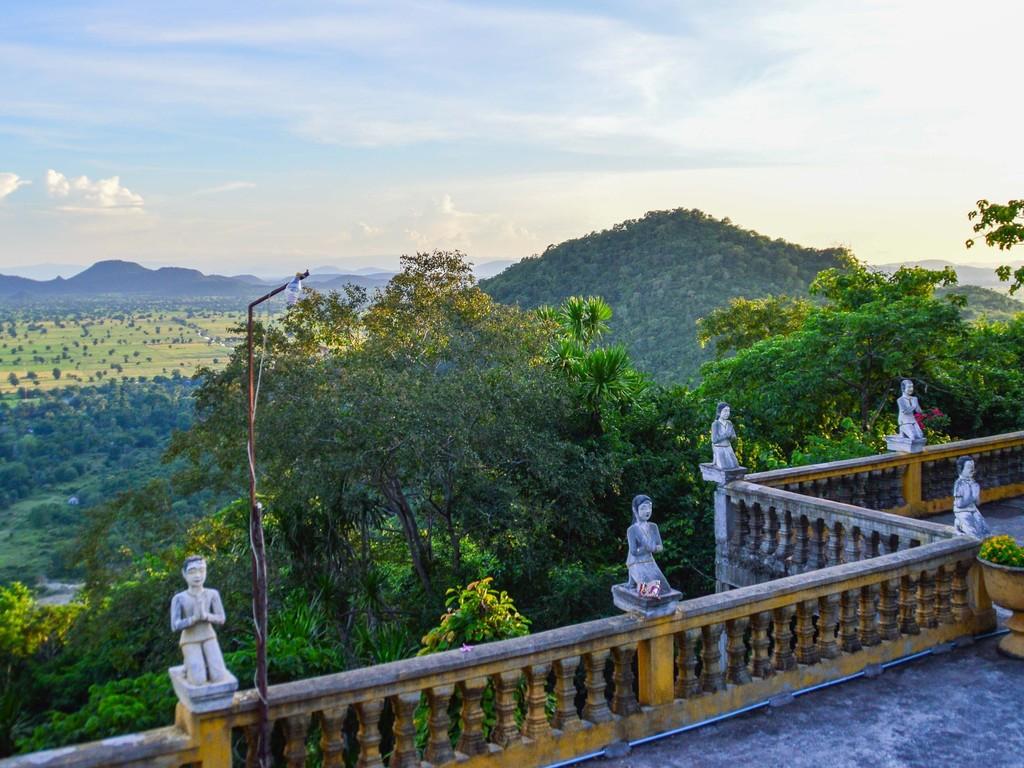 Battambang : ganztägige Besichtigung mit Wat Banan, Bamboo-Train, Wat Aik Phnom, Fischerdorf und Phnom Sampeau