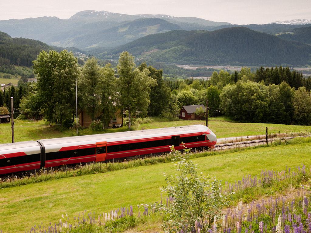 Zugfahrt in Norwegen.