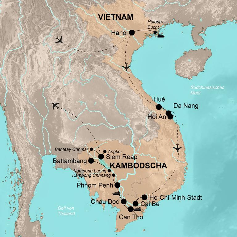 Vietnam und Kambodscha – Der ganze Zauber Indochinas