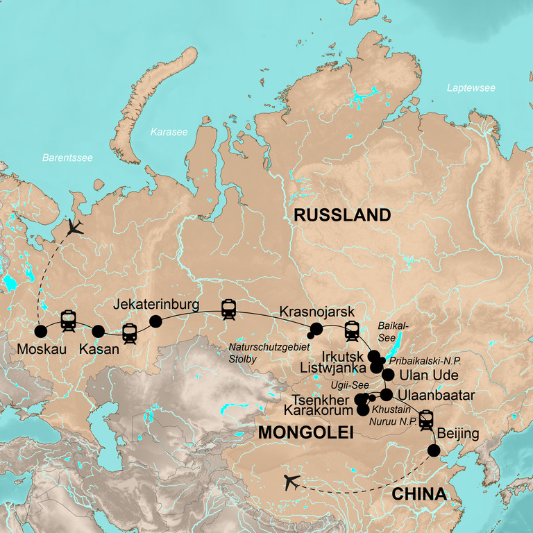 Russland, Mongolei und China – Transsib - Von Moskau nach Bejing