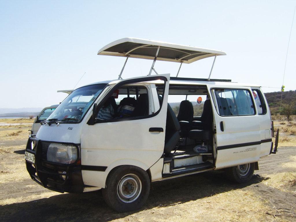 Eines unserer Kleinbusse in Kenia