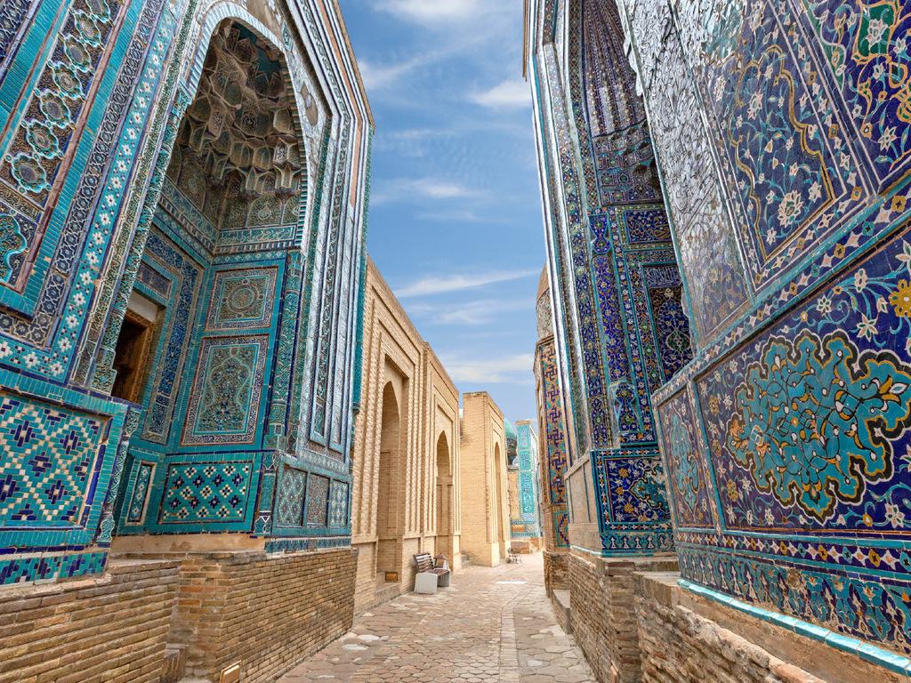 Samarkand: Observatorium, Grab des Daniel, Nekropole Schah-e-Sinda, Registan-Platz