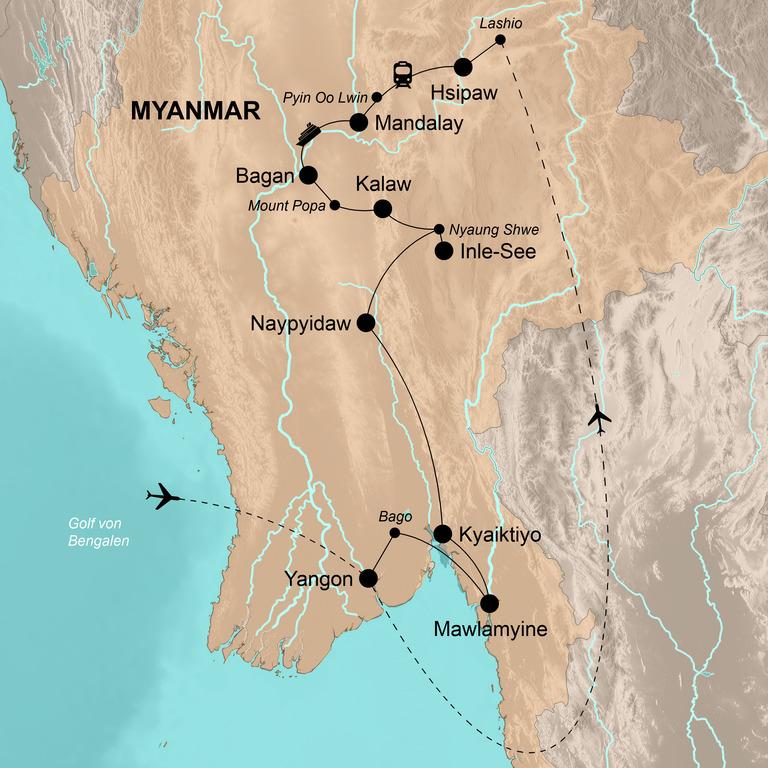 Myanmar – Die große Abenteuerreise