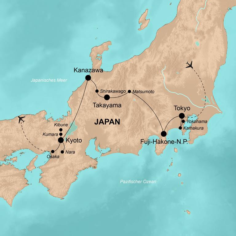 Japan – Höhepunkte in Fernost