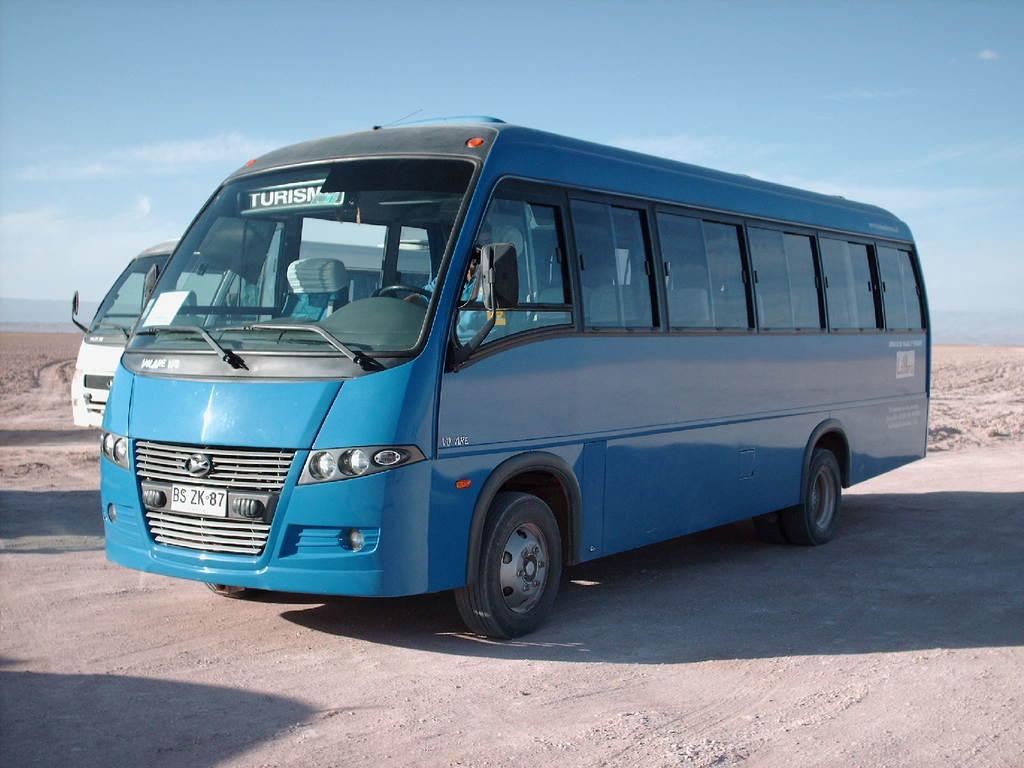 Einer unserer Minibusse in Chile.