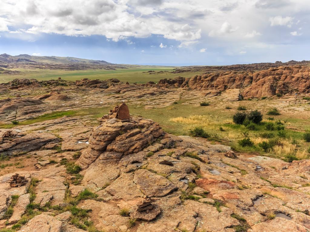 Tsagaan Suvarga – Baga Gazriin Chuluu : zurück Richtung Ulaanbaatar, Felsformationen von Baga Gazriin Chuluu