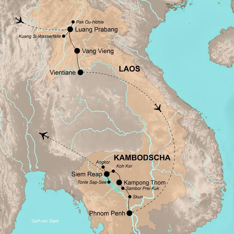 Laos und Kambodscha – Durch die Königreiche des Mekongs