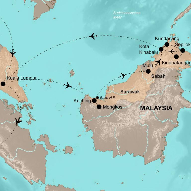 Malaysia: Sarawak und Sabah (Borneo) – Zu Besuch bei den Menschen des Waldes