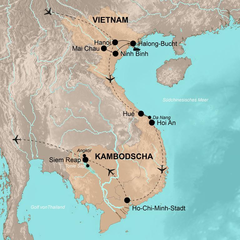 Vietnam und Kambodscha –