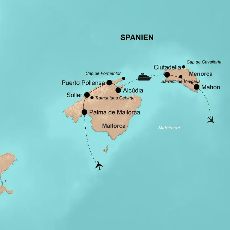 Spanien: Mallorca und Menorca – Die Balearischen Perlen im Mittelmeer