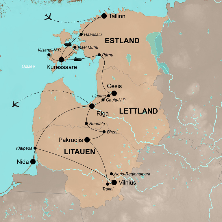 Estland, Lettland und Litauen – Malerisches Baltikum