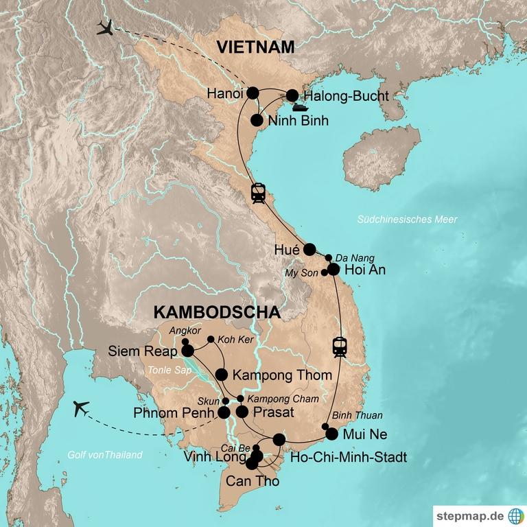 Vietnam und Kambodscha überland – Auf Entdeckungstour in Indochina
