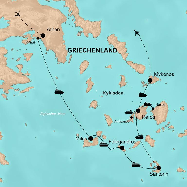 Griechenland: Kykladen – Inselhüpfen von Milos bis Paros
