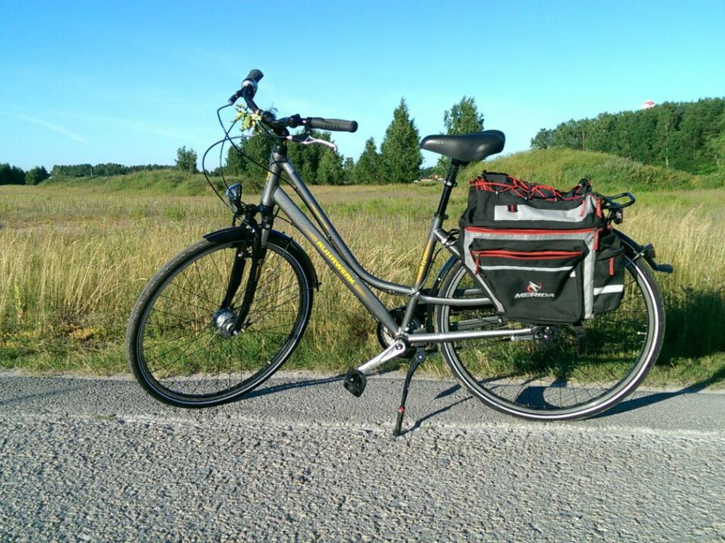 Trekkingrad für die Touren im Baltikum