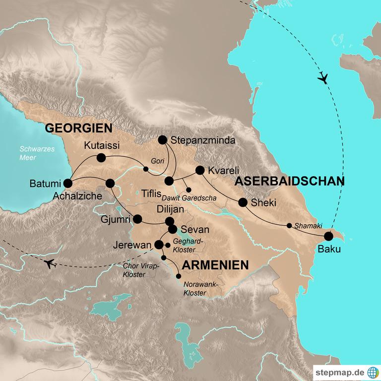 Georgien, Armenien und Aserbaidschan – Die umfassende Kaukasus-Reise