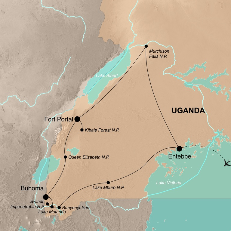 Uganda – Nebelwälder, Dschungel und Gorillas