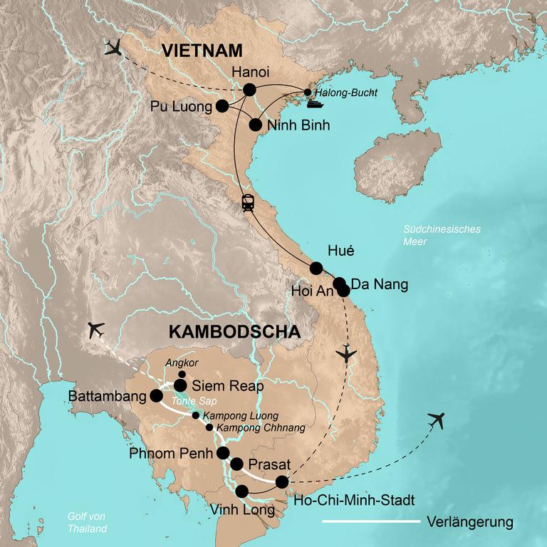 Vietnam mit Verlängerung Kambodscha – Die umfassende Reise