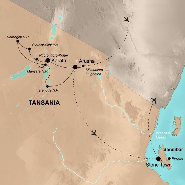 Tansania mit Sansibar – Grandiose Tierwelt und Traumstrände