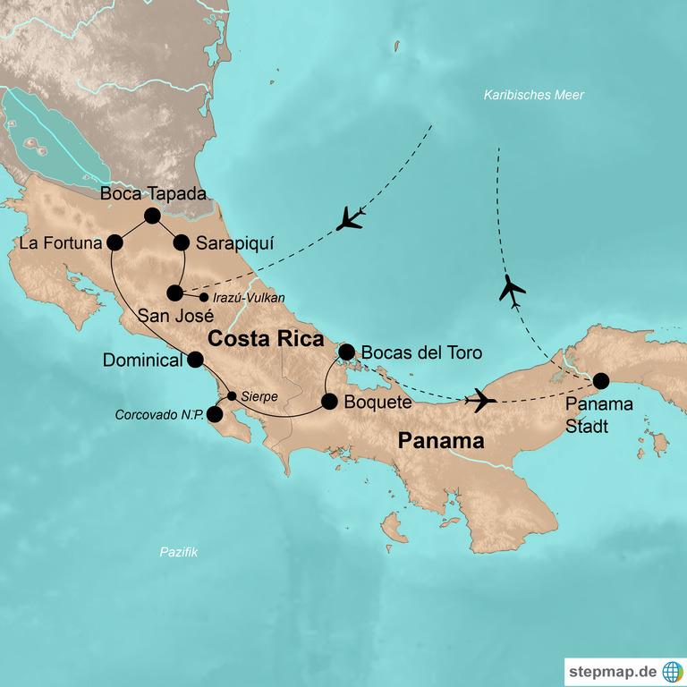 Costa Rica und Panama – Abenteuer vom Nicaragua-See bis zum Panama-Kanal