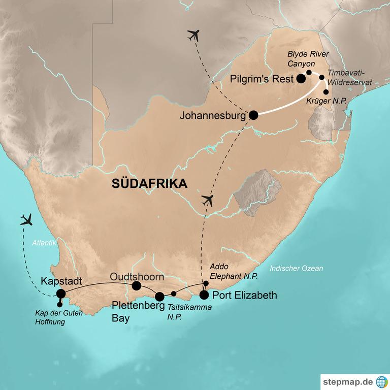 Südafrika – Urwald, Strände und jede Menge Tiere