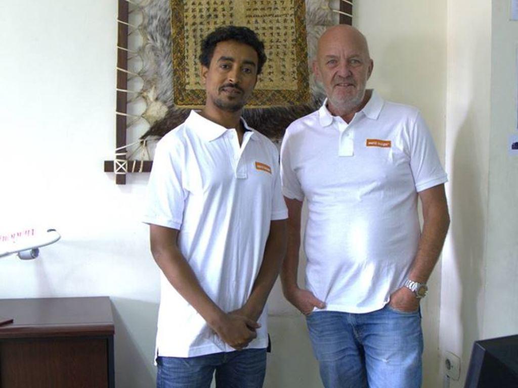 Unser Team in Äthiopien mit Desale und Alex