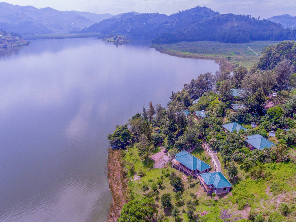 Lake Mulehe Safari Lodge ***(*) am Lake Mutanda